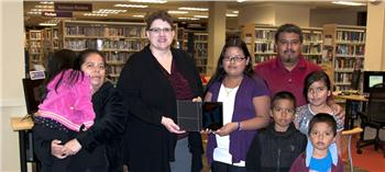 2013 Library Card Drive Prize Winner