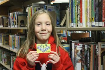 Greta Jaecklein, winner of 2015 elementary card design